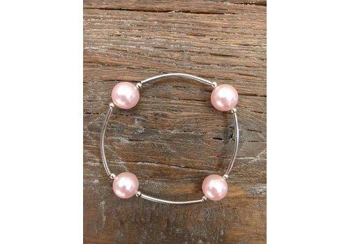 Four Pearl Bracelet - Blush
