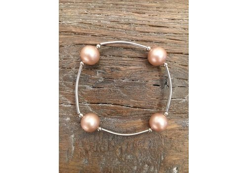 Four Pearl Bracelet - Champagne