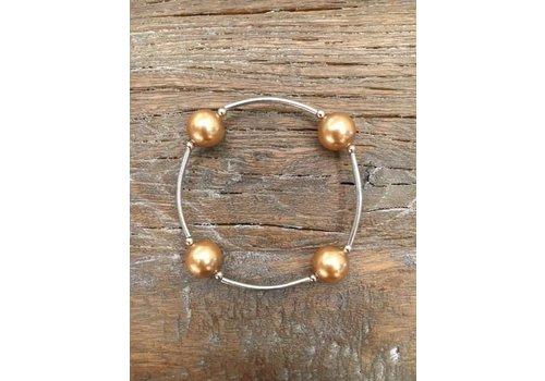 Four Pearl Bracelet - Gold