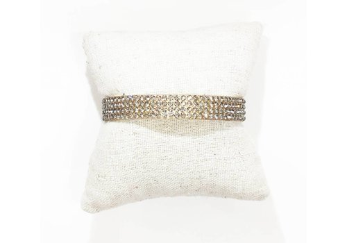 Gold Cuff with Crystals