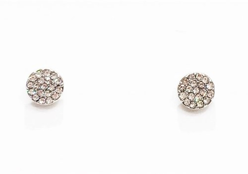 Crystal Disc Earring