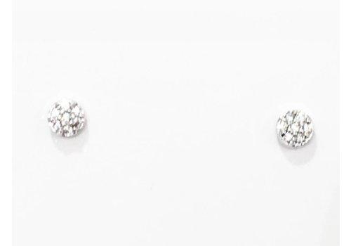 Petite Crystal Disc Earring