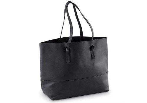 Miller Leather Tote - Black