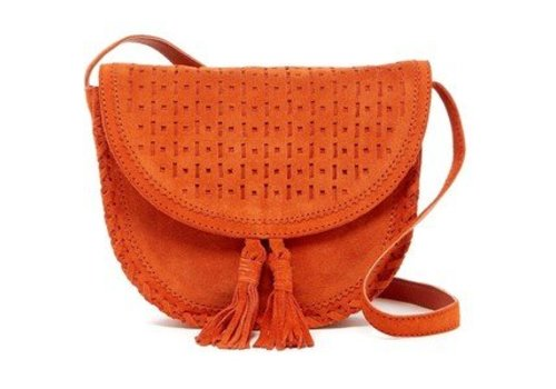 Shiraleah Emma Mini Saddle Crossbody - Orange