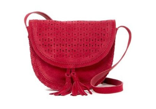 Shiraleah Emma Mini Saddle Crossbody - Berry