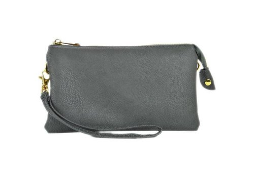 AH!dorned 3-in-1 Solid Purse - Grey