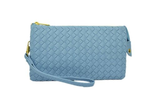 AH!dorned 3-in-1 Woven Purse - Baby Blue