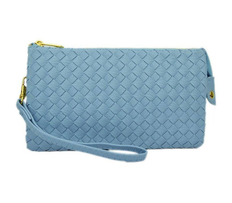 3-in-1 Woven Purse - Baby Blue