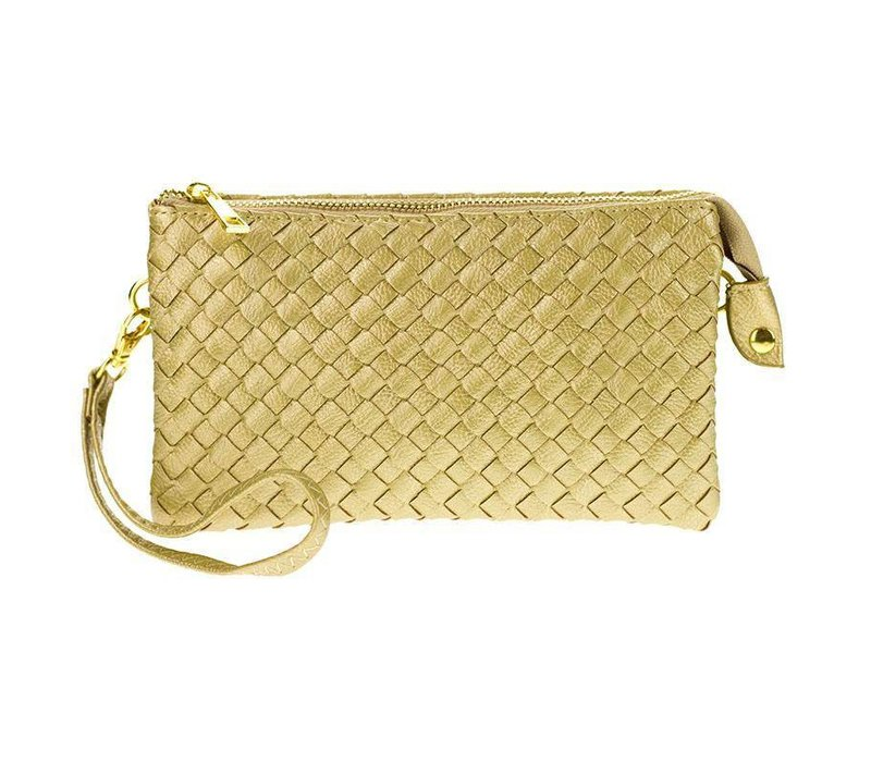 3-in-1 Woven Purse - Gold