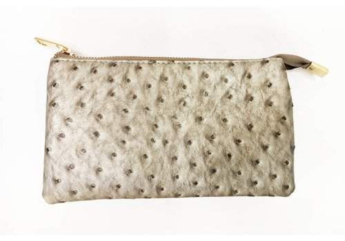 AH!dorned 3-in-1 Ostrich Purse - Silver