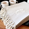 Herringbone Initial Throw Blanket