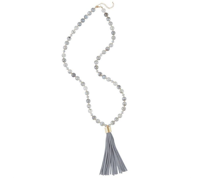 Suede Tassel Necklace ( 3 Colors Available)