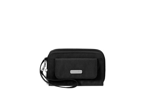 RFID Wallet Wristlet - Black