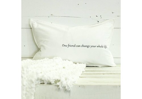 """One Friend Can ..."" Pillow"