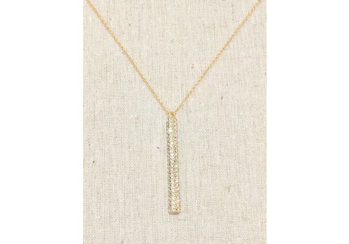 U.S. Jewelry House Gold  Dangle Crystal Necklace