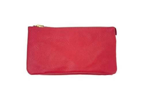 AH!dorned 3-in-1 Solid Monogram Purse - Red