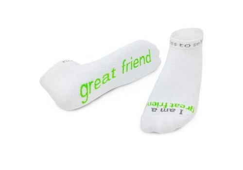 Notes To Self, llc Notes To Self® 'I am a great friend'® Socks