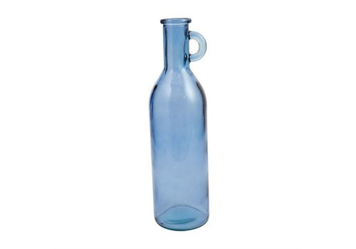 TALL GLASS VASE - BLUE