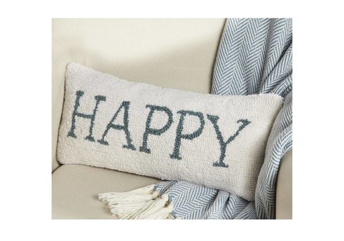 Happy Hooked Pillow