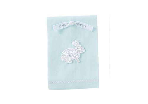 Blue French Knot Bunny Towel
