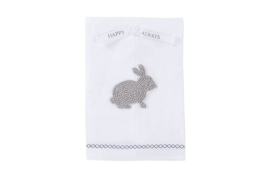 White French Knot Bunny Towel