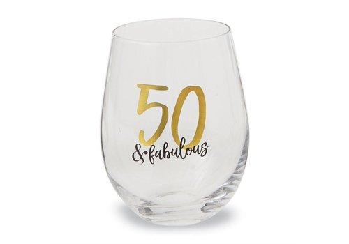 50 & Fabulous Stemless Wine Glass