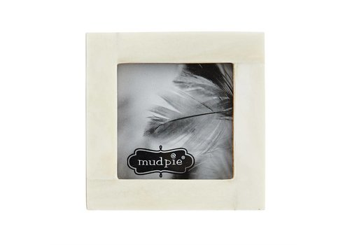 RECTANGLE SMALL WH BONE FRAME