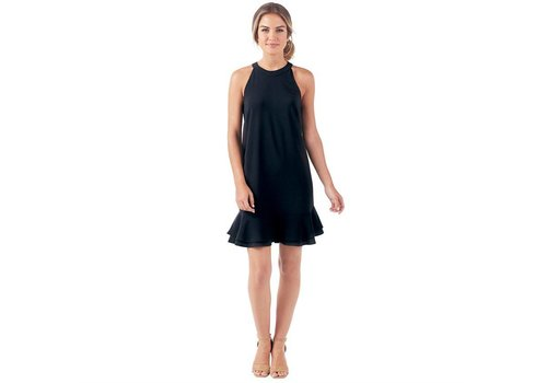 Lindsey Ruffle Dress in Black