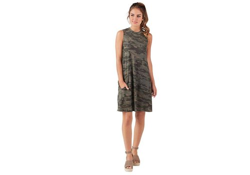 Alissa Swing Dress in Camo