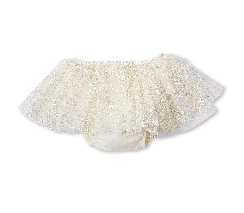 Glitter Tutu Bloomers- Ivory