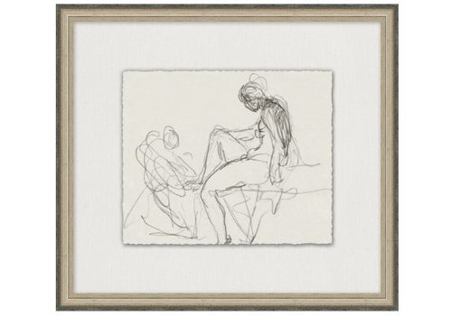 Wendover Art Charcoal Figure Study 8- Wall Art