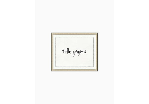 Wendover Art Hello Gorgeous- Kate Spade Wall Art