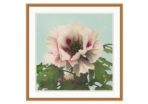 Wendover Art Pink Floral on Aqua 2- Wall Art (Warehouse)