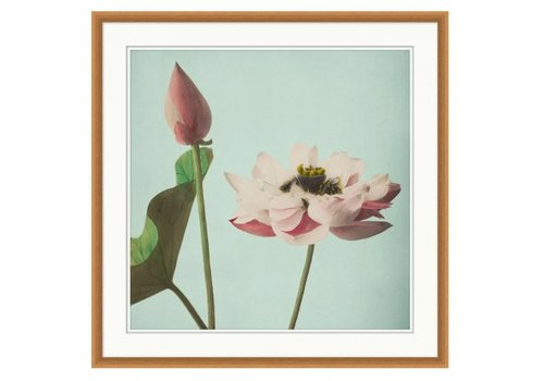 Wendover Art Pink Floral on Aqua 3- Wall Art (Warehouse)