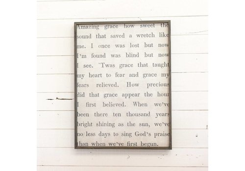 "Large ""Amazing Grace..."" Wall Art"