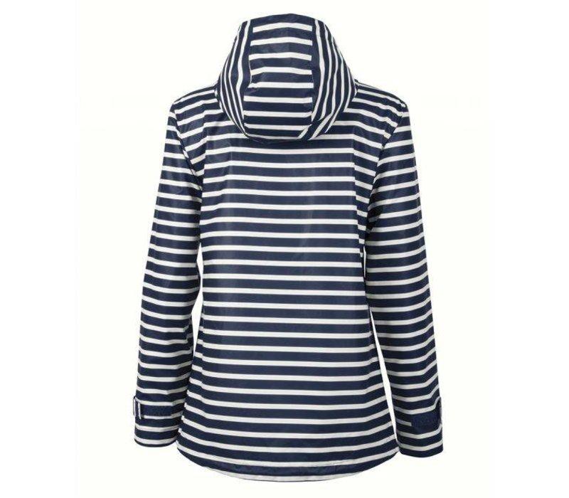 New Englander Raincoat - Navy Stripe