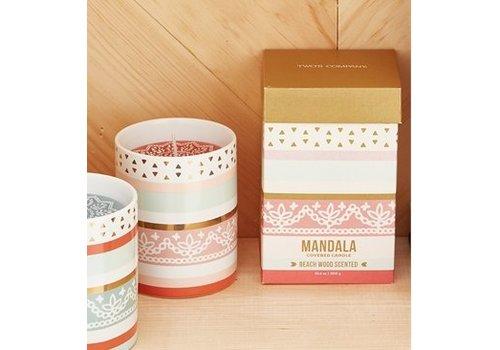 Two's Company Desert Garden Mandala Candle - Peach