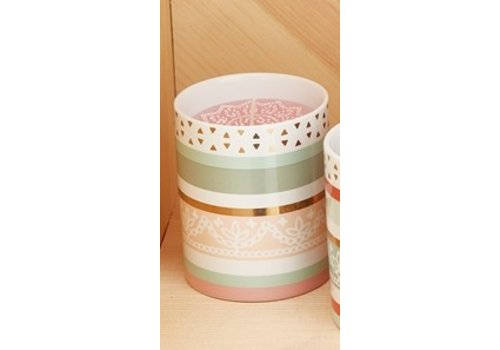 Two's Company Desert Garden Mandala Candle - Pink