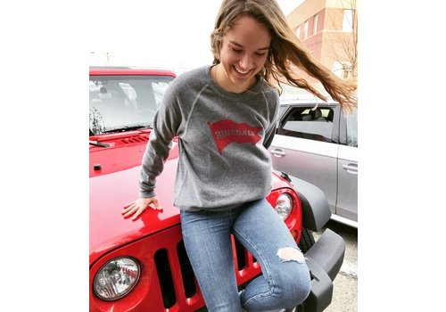 """My State Threads Charcoal """"Hinsdale"""" Red Pennant Sweatshirt"""
