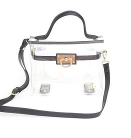 Purseptions The Brittany Clear Buckle Handbag