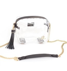 Purseptions The Bronwyn Clear Crossbody Handbag