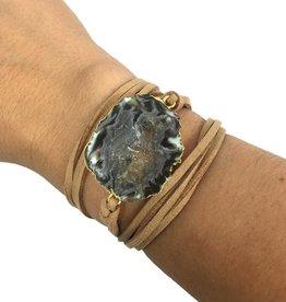 Kristalize Jewelry Suede Wrap Bracelet/Choker