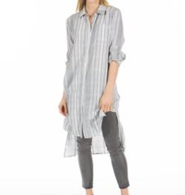 PPLA Navy/Ivory Vertical Stripe Tunic