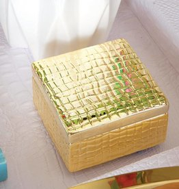 8 Oak Lane Gold Croc Print Trinket Box