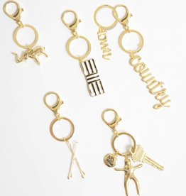 8 Oak Lane Gold Worry Doll Keychain