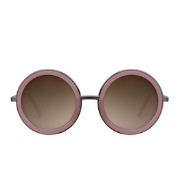 Perverse Sunglasses Gunmetal and Pink Geek Chic Sunglasses