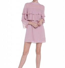 English Factory Blush Two Tier Ruffle Dress