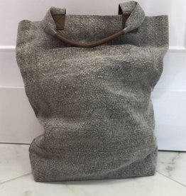 Roost Gray Washed Linen Deep Tote