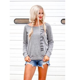 Southern Made Tees Gray Weekend Crew Sweatshirt