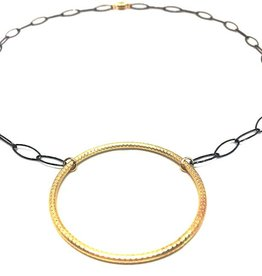 Erin Gray Chain Necklace with Gold Circle